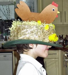 """Did we hear you say """"bonnets aren't for boys""""? Not so! These great ideas from Thinly Spread make wonderful Easter Bonnets for both boys and girls, so everyone can have fun at the parade!"""