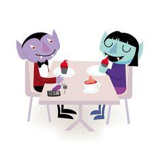 Vampires first date! by Stella Baggott, via Flickr