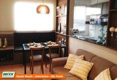 Apartamento decorado 2 quartos do Spazio Beach no bairro Chácara Letônia | Iate Clube - Americana - SP - MRV Engenharia - MRV Engenharia - Sala