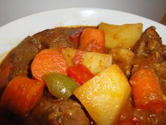 Simple Tanzanian meat stew