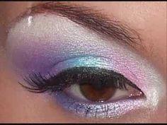 pink purple and blue makeup tutorial using 80 colour palette