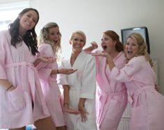 770afbb4a5 7 Monogrammed Spa Robes Bridesmaids gift by EmbroiderybyMelissa Monogrammed  Bridesmaid Gifts