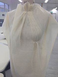 Pleating on the stand