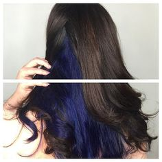 Beautiful blue-indigo peek-a-boo color by Jessica!  Book today at www.thecherryblossomsalon.com or 404-856-0533