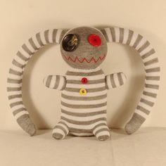 Handmade Sock Pirate Stuffed Animal Doll Baby Toys