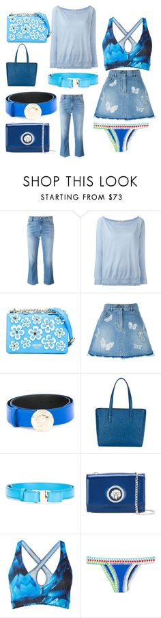 """""""summer collection"""" by monica022 ❤ liked on Polyvore featuring 7 For All Mankind, P.A.R.O.S.H., Moschino, Valentino, Versace, Salvatore Ferragamo, Versus, Bodyism, kiini and vintage"""