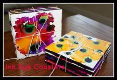 Ink Dye Coasters | DiscountQueens.com