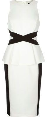Shop for Womens White cross waist bodycon dress by River Island at ShopStyle. Peplum Dress, Bodycon Dress, River Island Womens, Pencil Skirt Black, White Crosses, Black Side, Cocktail Dresses, Product Description, Skirts