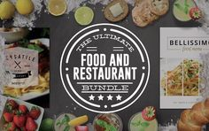 Ultimate Food and Restaurant Bundle by Nathan Knight Design on @creativemarket