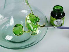 Pas à pas: Peindre sur verre avec le nouvel effet opalescent de la gamme Vitrail