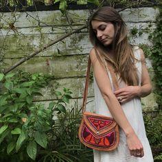 SOUL SISTER - goat leather embroidered shoulder bag