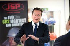 David Cameron - Hard-hat manufacturer wins special endorsement
