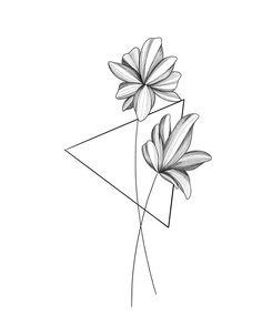 Minimalist Tattoo Ideas to be Quite Your Styles Dreieckiges Tattoos, Mini Tattoos, Finger Tattoos, Cute Tattoos, Tattoo Drawings, Small Tattoos, Wrist Tattoos, Geometric Flower, Geometric Shapes