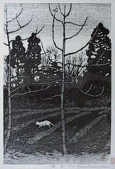 Shiro Kasamatsu, woodcut