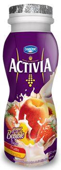 Bebile de Frutilla Durazno #Activia #Chile