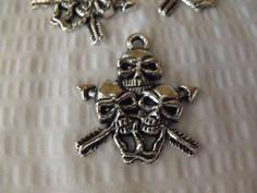 Gothic Skull Pendant Charms Lot of 20 Zinc Alloy by AGothShop, $2.00