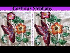 (1) Bordado Fantasia Flor Con Mariposa parte 2 #12 - YouTube