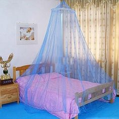 Elegent Bed Dome Canopy Netting Mosquito Repellent Netting Bedcover King/Queen (Blue) Inspirationthailand http://www.amazon.com/dp/B00Q2J3JTM/ref=cm_sw_r_pi_dp_aa5Bvb0KVVTJH