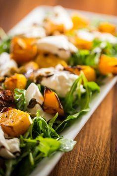 Butternut squash and arugula salad with burrata