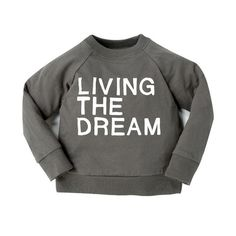 Living the Dream 'Not so Basics' Raglan - mini mioche - organic infant clothing and kids clothes - made in Canada Fall Winter 2015, Mini Me, Boy Outfits, Infant Clothing, Live, Sweatshirts, How To Make, Canada, Organic
