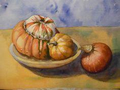 Autumn Squashes (watercolour)