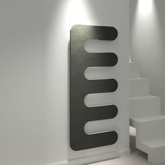 Kudox Matrix Comb radiator in black
