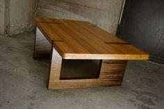 design salontafel bamboe walnotenhout