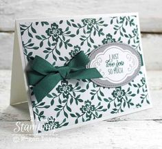 Stampin Up! Cards | Card Making Ideas | Masculine Cards | Cards for Men |  Simple Cards | Handmade Greeting Cards | Monochromatic Cards | How to  Tie A Bow | Paper Crafts | Papercrafting Tips | Punch Art | Learn How To Use Monochromatic Color Art on Cards