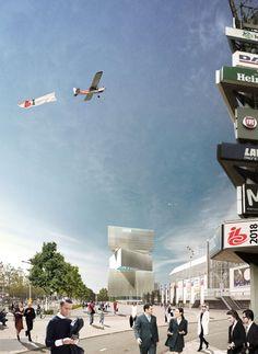 The Architecture of New Media: OMA's Massive RAI Amsterdam Hotel - Architizer