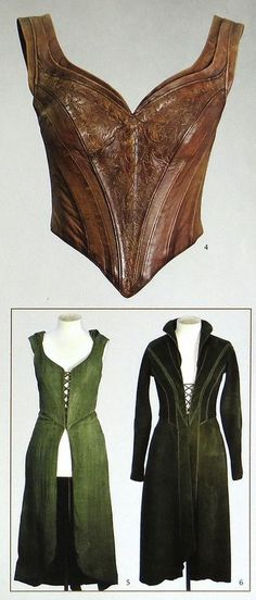Tauriel, the Hobbit trilogy | costume. Leather bodice. Overdress and underdress... the hoodie one has a detachable skirt according to Weta Chronicles: Cloaks and Daggers.