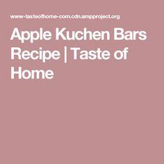 Apple Kuchen Bars Recipe | Taste of Home