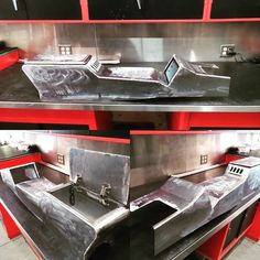 Here's a Fesler console pretty much ready to ship. Shiny, right? #fesler #feslerbuilt #feslernation #welding #custom #badass #carporn #fourwheelporn #musclecar #hotrod #classic #chevy #ford #camaro #chevelle #nova #blacklist #metal #handbuilt