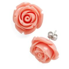 Retro Rosie Earrings ❤ liked on Polyvore