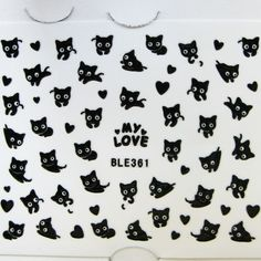 Meliney Nail Art - Black Cat Sticker, $2.99 (http://www.meliney.com/black-cat-sticker/)