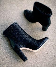 Schutz Black Woven Kiula Boot