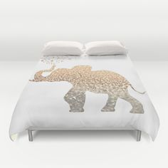Buy ultra soft microfiber Duvet Covers featuring ELEPHANT by Monika Strigel. Hand sewn and meticulously crafted, these lightweight Duvet Cover vividly feature your favorite designs with a soft white reverse side.