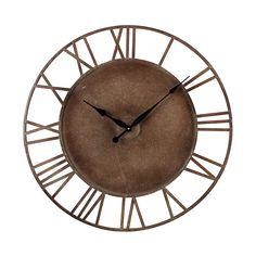 Metal Roman Numeral Outdoor Wall Clock.