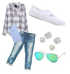 """Untitled #1"" by syd-squid-1 on Polyvore featuring Rails, Sans Souci, Vans, Givenchy, Bloomingdale's and Ray-Ban"
