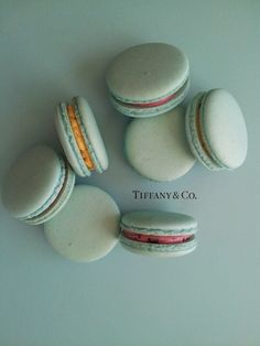 Tifffany blue French macarons