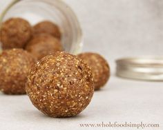 Spicy Chai Bliss Balls. So good! So simple and so very delicious! Free from gluten, grains, dairy, egg and refined sugar.