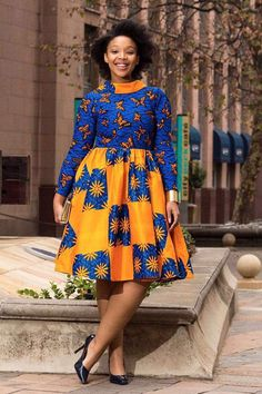 African dress by EssieAfricanPrint on Etsy