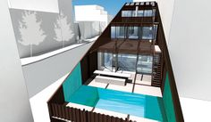 Construction has begun on a new shipping container home in Brooklyn, New York. The house in the Williamsburg area of Brooklyn will be a single-family residence and was designed by LOT-EK. The finished three-story house, called Carroll House, is located on 2 Monitor Street, and will be comprised of 21 stacked containers, each of which were sliced diagonally along the top and bottom.