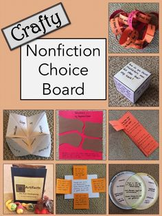 Have some fun with informational texts! Your students will love this FREE crafty nonfiction choice board! Library Lessons, Reading Lessons, Reading Skills, Reading Strategies, Math Lessons, Reading Comprehension, Library Activities, Reading Activities, Teaching Reading