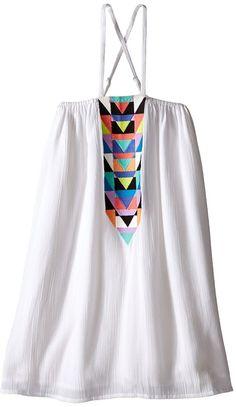 Mara Hoffman Kids Embroidered Cross Back Dress