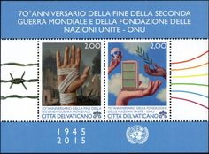 Stamp: World War II and the UN (Vatican City) Mi:VA BL48,Sn:VA 1593,Un:VA BF85