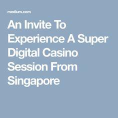 An Invite To Experience A Super Digital Casino Session From Singapore Online Gambling, Invitations, Invite, Singapore, Digital, Save The Date Invitations, Invitation