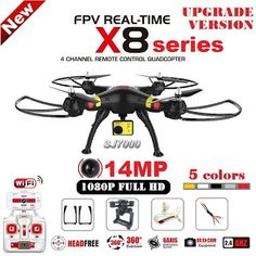 SYMA X8G X8C X8W X8HG RC Drone With SJ7000 14MP 1080p Full HD WiFi Camera 2.4G 4CH FPV Quadcopter Professional Drone (32648631421)  SEE MORE  #SuperDeals