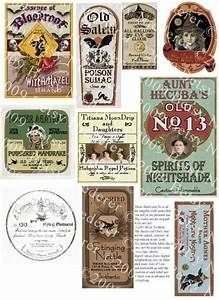 6 Best Images of Vintage Printable Halloween Bottle Labels - Halloween Potion Bottle Label ...