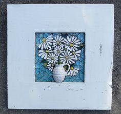 Jug of Daisies mosaic by Nikki Murray-Mason www.nikkiinc.com
