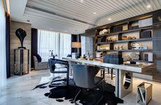 Home Office decor    www.bocadolobo.com #modernfurniture  #homeofficeideas #luxuryhomeoffice